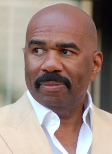 Steve Harvey at a ceremony to receive a star on the Hollywood Walk of Fame.