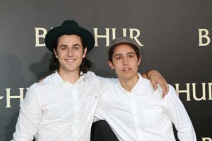"LOS ANGELES - AUG 16: David Henrie, Lorenzo Henrie at the ""Ben-Hur"" Premiere at the TCL Chinese Theater IMAX on August 16, 2016 in Los Angeles, CA"