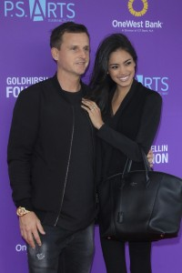 LOS ANGELES - NOV 15: Rob Dyrdek, Bryiana Noelle Flores at the Express Yourself 2015 presented by P.S. ARTS at the Barker Hanger on November 15, 2015 in Santa Monica, CA