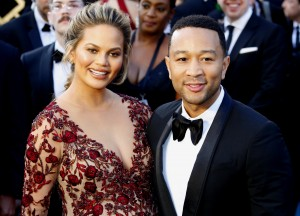 Chrissy Teigen and John Legend at the 88th Annual Academy Awards