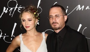 NEW YORK-SEP 13: Actress Jennifer Lawrence (L) and director Darr