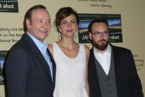 "LOS ANGELES - JUL 30: Kevin Spacey, Maggie Gyllenhaal, Dana Brunetti at the Jameson's ""First Shot"" Competition Screening Party at the Paramount Studios on July 30, 2016 in Los Angeles, CA"